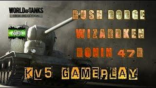 world of tanks xbox 360 rush dodge wizardken ronin 47r kv 5 gameplay