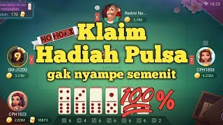 Cara Tukar Hadiah Pulsa Game Domino Youtube