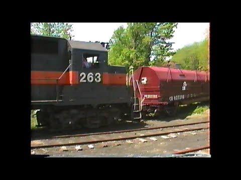 MEC GP38 #263 works the M&L branch at Salem,NH  May 1989 Part 1