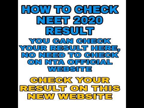 Neet result 2020 announced. Check from this website || How to Check Neet Result || Mission Neet ||