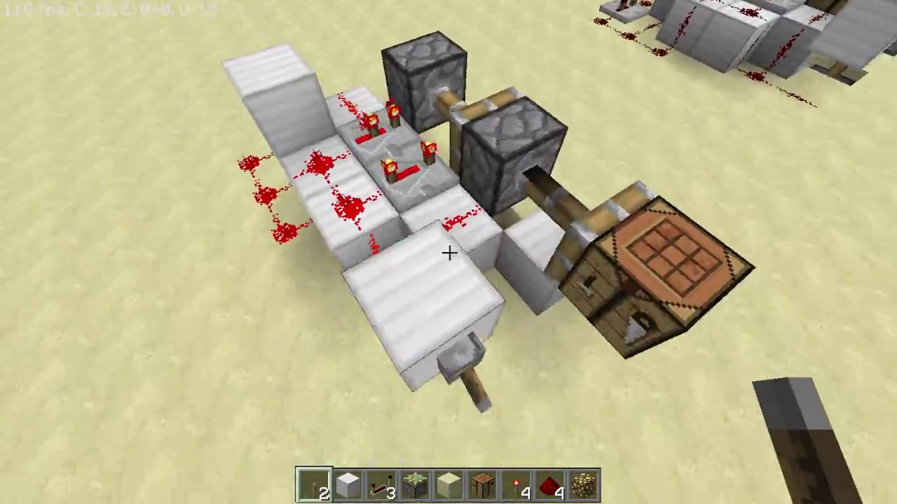 how to make a hidden crafting table in minecraft pe