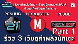 PART 1 รีวิว 3 เว็บดูค่าพลังนักเตะ โค้ช ฟีเจอร์ | Review 3 Database Website  For Pes Players PART 1