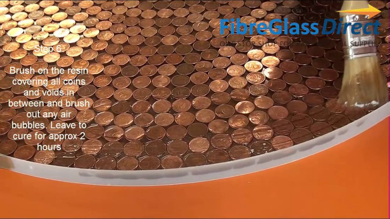 Making A Penny Table Top With Resin