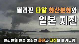 필리핀 타알 화산 분화와 일본 지진 - 필리핀해 판을 둘러싼 화산과 지진의 메커니즘