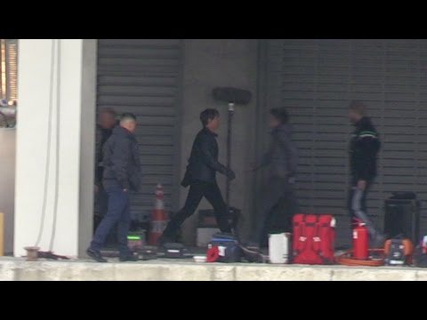 Tom Cruise and Christopher McQuarrie on set of Action Scene in Paris for MI6