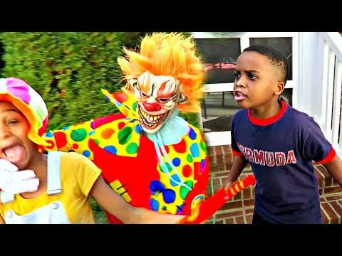 Thumbnail: Bad Baby Scary Killer Clown KIDNAPS and Attacks! Shasha and Shiloh - Onyx Kids