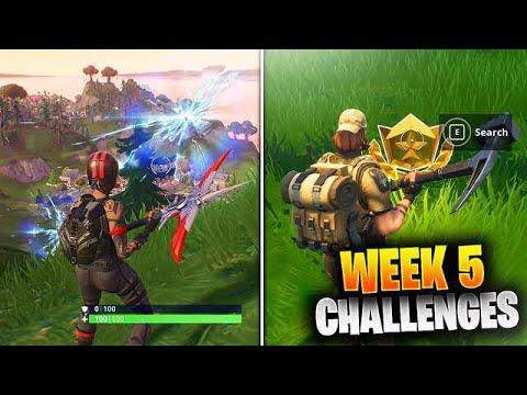 ALL Week 5 Challenges Guide Fortnite SEASON 5 (Fortnite Week 5 Challenges) Tutorial