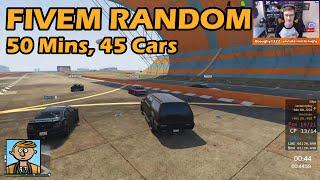 50 Minutes Of Random All - GTA FiveM Random Racing Live #13