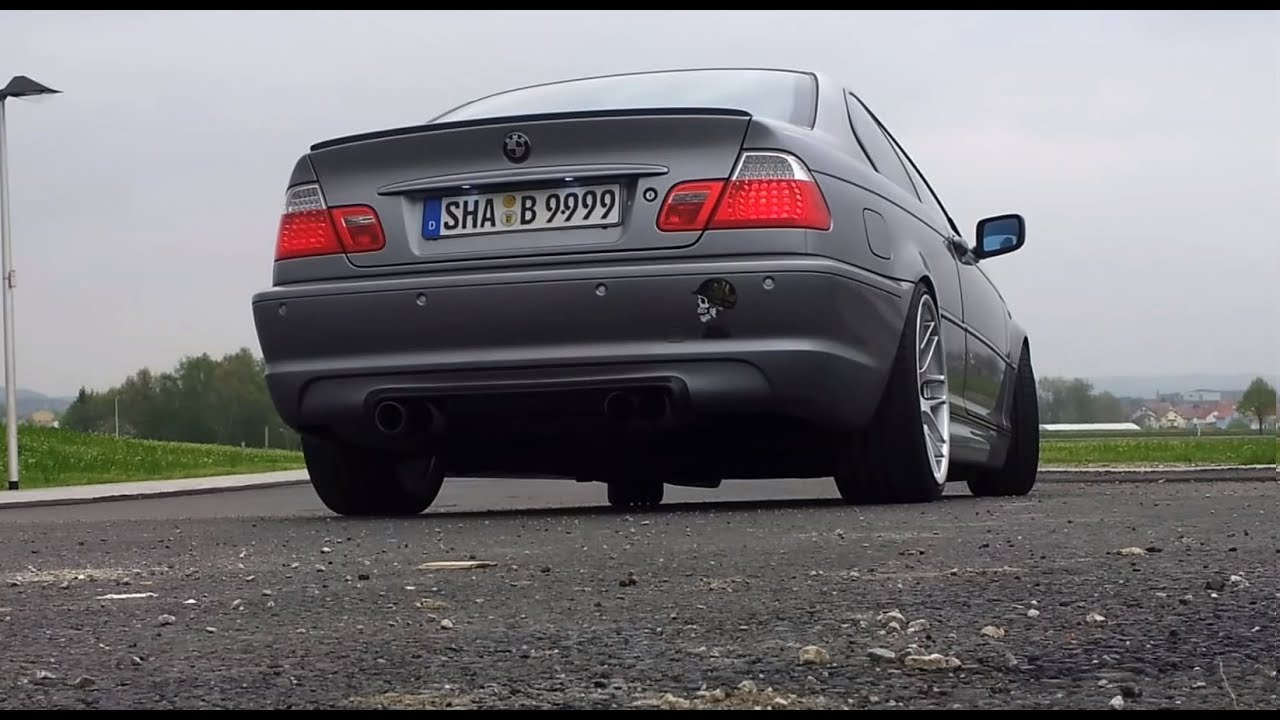 Bmw E46 330ci With Inside Performance Exhaust Ala M3 Csl Look