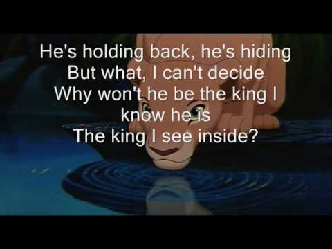Lion King- Can You Feel The Love Tonight W/lyrics