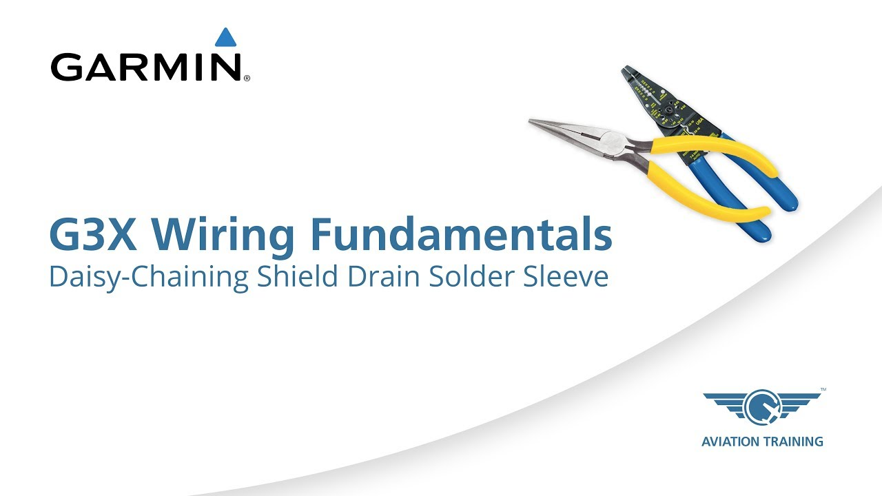 small resolution of garmin g3x wiring fundamentals series daisy chaining shield drain solder method