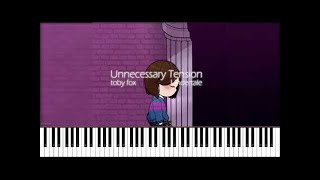 Undertale // Unnecessary Tension | LyricWulf Piano Tutorial on Synthesia OST 8