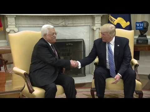 President Donald Trump Meets with President Mahmoud Abbas of the State of Palestine and Palestinian