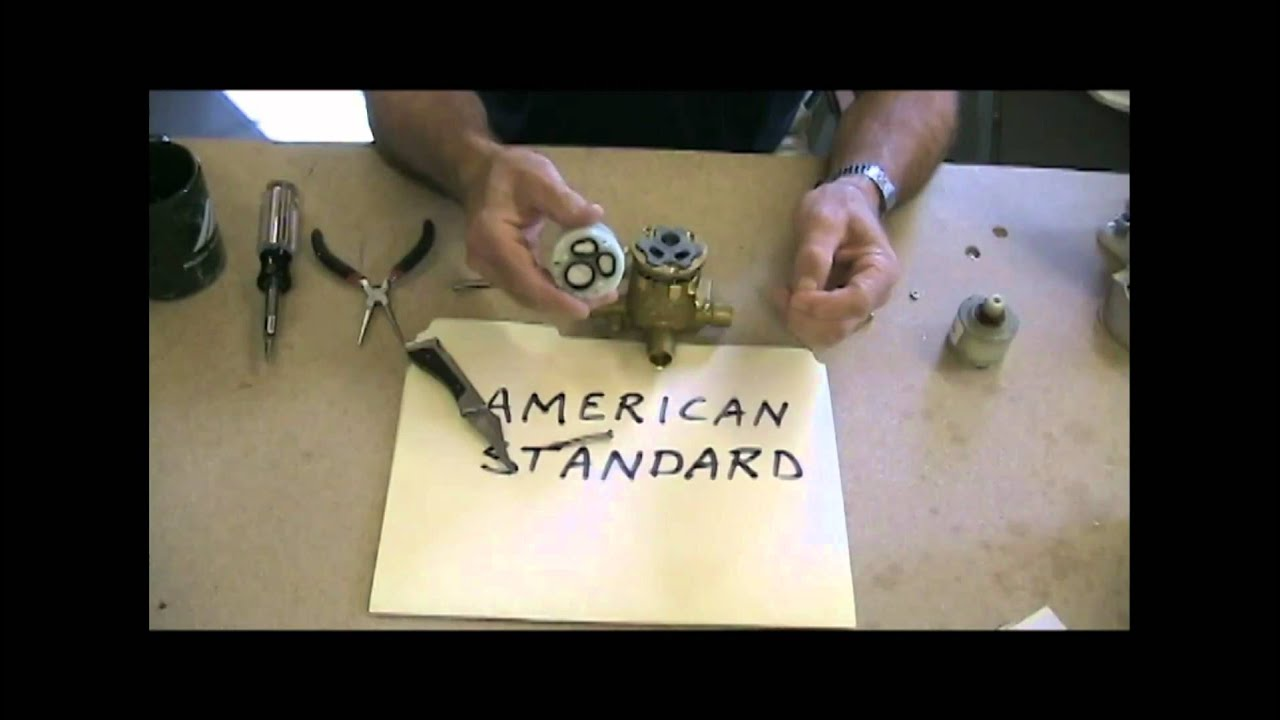 Inside American Standard YouTube - American standard bathroom faucet cartridge replacement