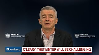 Ryanair's O'Leary Sees `Challenging' Winter, 2020 Improvement