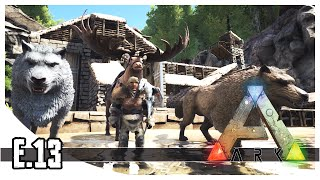 ARK: Survival Evolved - Winter Biome, Dire Wolf & Megaloceros - EP.13