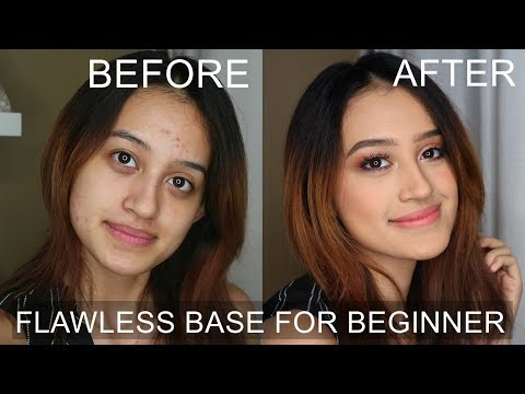 UPDATED FLAWLESS FOUNDATION ROUTINE : Acne Skin, Dark Circle | Beginner Series | Nadya Aqilla