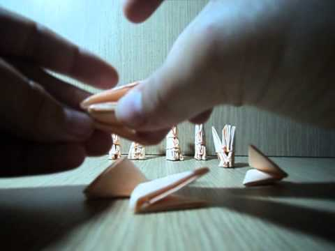 3D origami chess