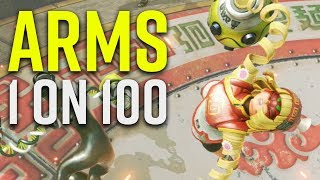 ARMS 1 on 100 Gameplay - Min Min - Nintendo Switch