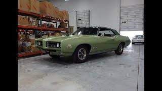 1969 Pontiac GTO Judge Convertible in Green & Engine Sound on My Car Story with Lou Costabile