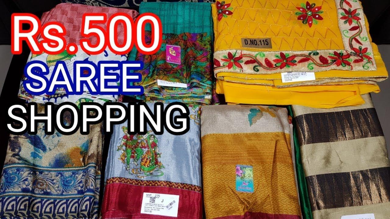 Below Rs 500 Chennai silks saree shopping haul