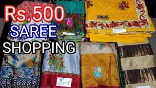Below Rs.500 Chennai silks saree shopping haul