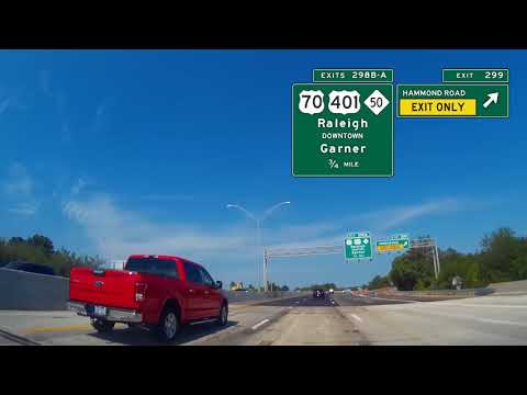 Video #5:  I-40 westbound from Benson to Chapel Hill, NC