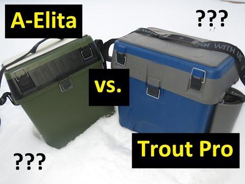Кто кого? #1 Сравнение зимних ящиков A-Elita и Trout Pro.