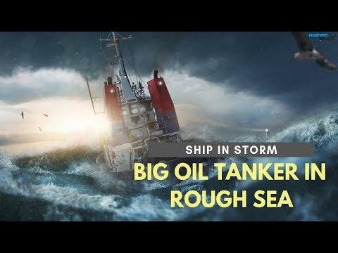 Oil Tanker in Rough Sea