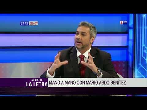 'Marito' Abdo Benítez en Al Pie de la Letra