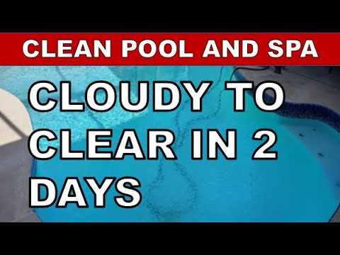 How To Clear Up Cloudy Swimming Pool Water Youtube