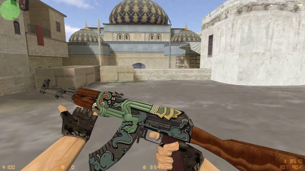 AK47 Fire Serpent for CS 1 6 (HD skin + inspect anim)