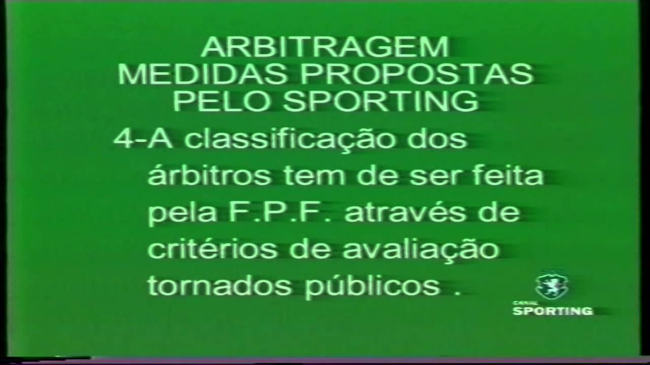 Propostas do Sporting para o sector da arbitragem em 07/01/1999