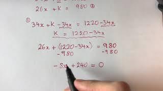 Matte NP åk 9 D delen 2011 del 1 NP Nationella prov fråga 10 algebra