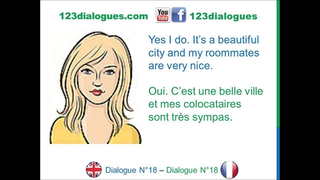 dialogue 18 english french anglais fran ais where do you live o est ce que tu habites. Black Bedroom Furniture Sets. Home Design Ideas