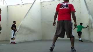 3Wall Handball- Totoy/Raul vs Boxer/Razzle(red shirts)