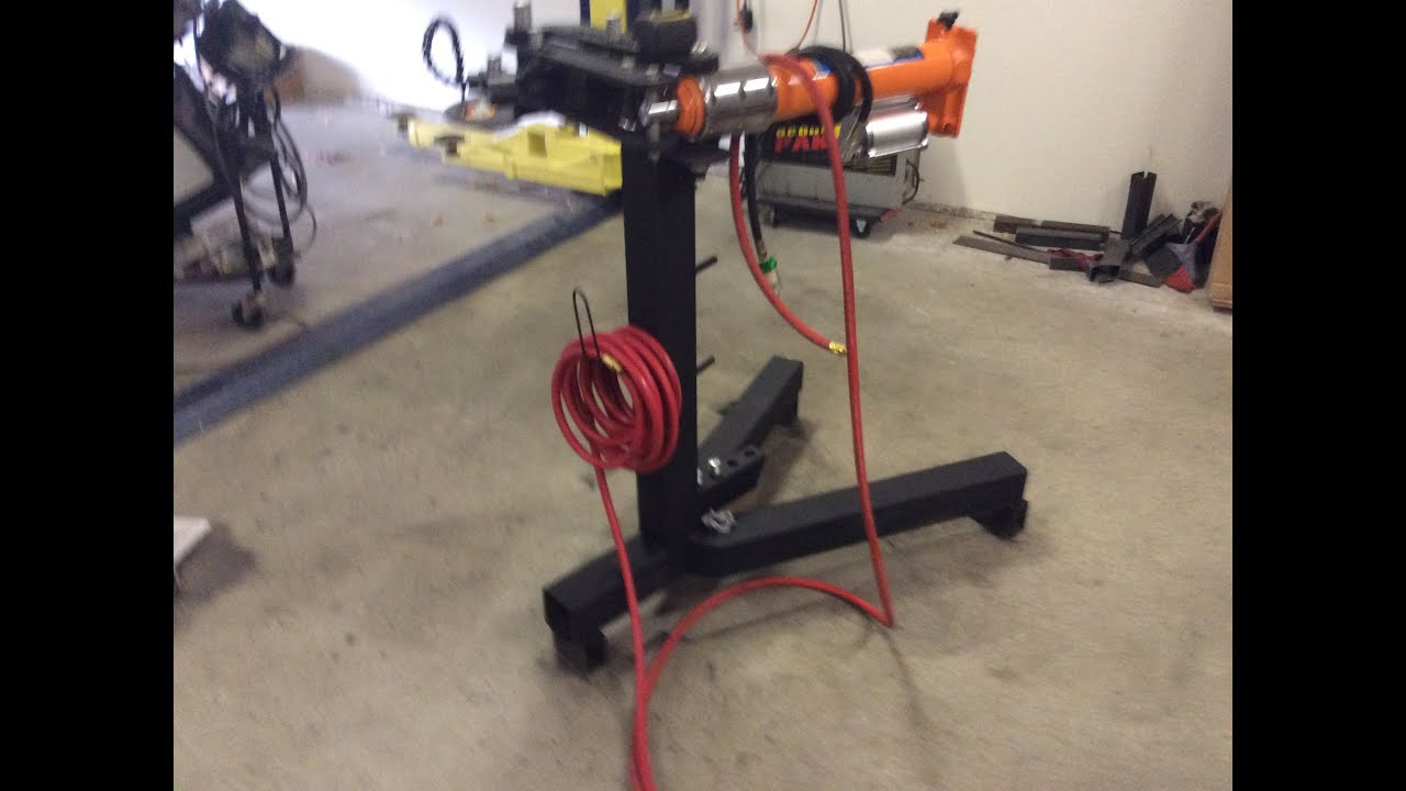 Tubing Bender Stand Conversion To Air Hydrualic Power Youtube