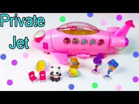 Planet Orbeez Private Jet Airplane Squinkies Flying Playset Toy Review Opening Part 1