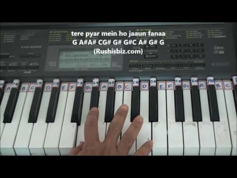 Mere Haath Mein (Piano Tutorials) - Fanaa Movie | DOWNLOAD NOTES FROM DESCRIPTION
