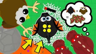 EAGLE DROPPING ANIMALS IN WEB TRAP MOPE.IO! *NEW* BEST TROLL, EAGLE KILLS DRAGONS (Mope.io Gameplay)