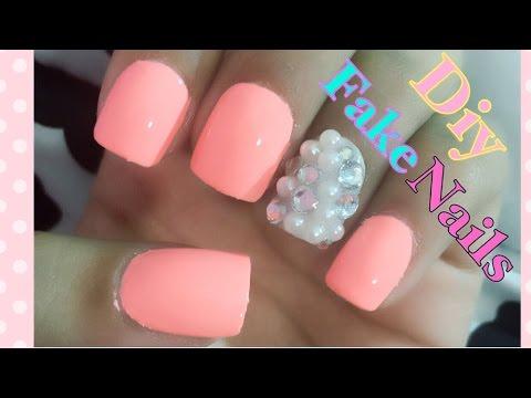 Diy Easy Fake Nails Youtube