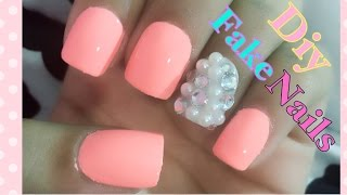how to make a fake nail with a straw ! super easy