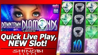 Downtown Diamonds Slot - Quick Live Play of New Aristocrat Mega Line Power Game