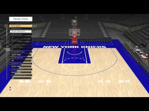 Nba 2k16 my league knicks 1 create arena msg for Making a basketball court