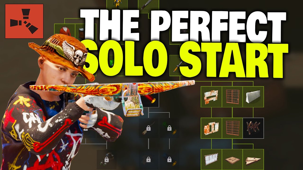 The Perfect Solo Start With The New Tech Tree Workbench Rust Solo Survival Part 1 4 Youtube
