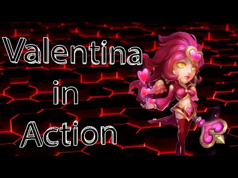 Castle Clash New Level 180 Valentina Hero In Action!!