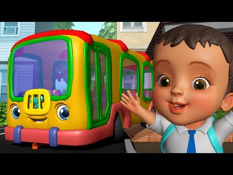 School Bus Song - स्कूल बस गीत | Hindi Rhymes for Children | Infobells