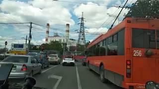 часть 2. Обзор улиц Краснодара. Едем из Центра до Комсомольского мкрн.  Переезд в Краснодар