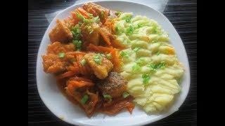 Рыба в томатном соусе.Простой и быстрый  рецепт приготовления щуки в томатном соусе.