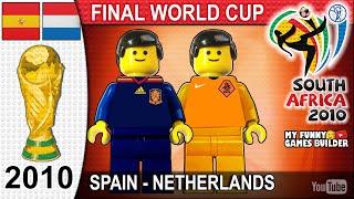 World Cup Final 2010 Spain vs Netherlands 1 0 in Lego Waka Waka All Goals Highlights Lego Film